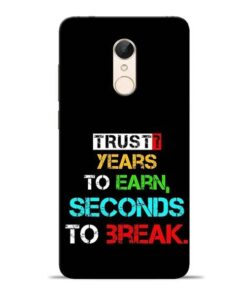 Trust Years To Earn Redmi 5 Mobile Cover