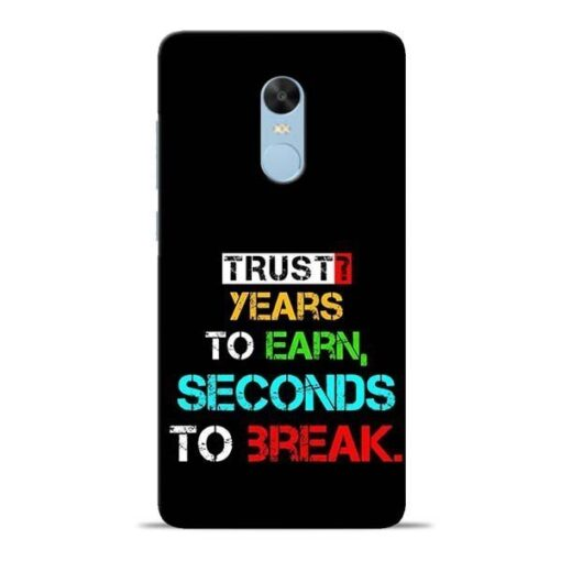 Trust Years To Earn Redmi Note 4 Mobile Cover