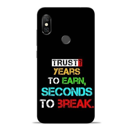 Trust Years To Earn Redmi Note 6 Pro Mobile Cover