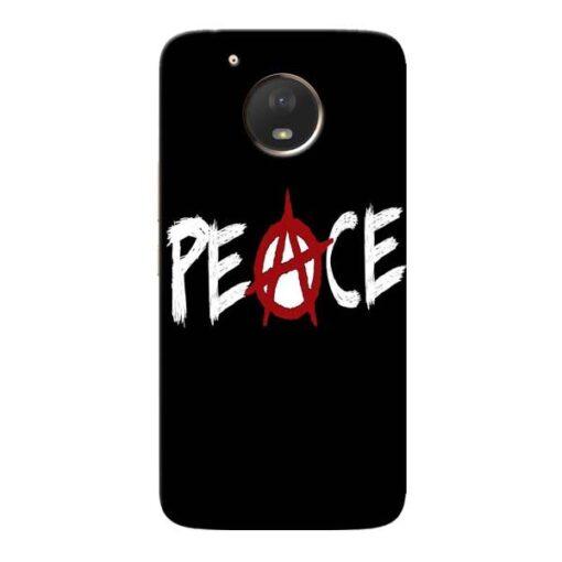 White Peace Moto E4 Plus Mobile Cover
