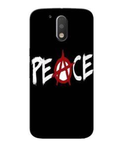 White Peace Moto G4 Plus Mobile Cover