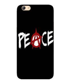 White Peace Oppo F3 Mobile Cover