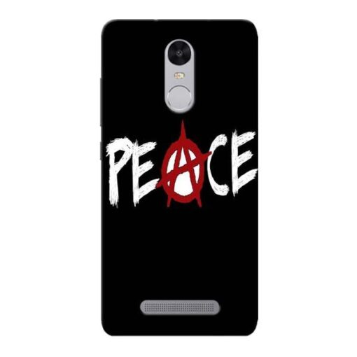 White Peace Xiaomi Redmi Note 3 Mobile Cover