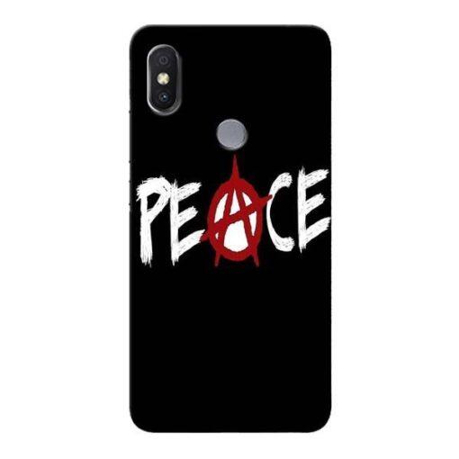 White Peace Xiaomi Redmi Y2 Mobile Cover