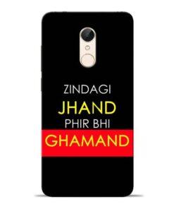 Zindagi Jhand Redmi 5 Mobile Cover