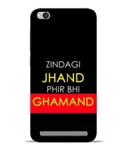 Zindagi Jhand Redmi 5A Mobile Cover