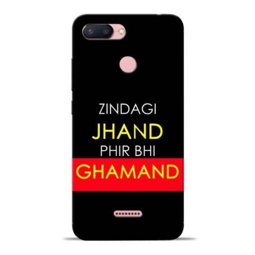 Zindagi Jhand Redmi 6 Mobile Cover