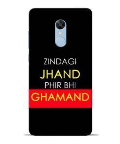 Zindagi Jhand Redmi Note 4 Mobile Cover