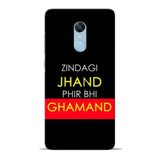 Zindagi Jhand Redmi Note 4 Mobile Cover