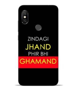 Zindagi Jhand Redmi Note 6 Pro Mobile Cover