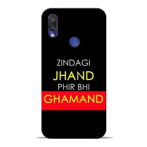 Zindagi Jhand Redmi Note 7 Mobile Cover