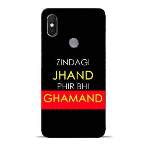 Zindagi Jhand Redmi Y2 Mobile Cover