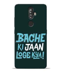 Bache Ki Jaan Louge Lenovo K8 Plus Mobile Cover