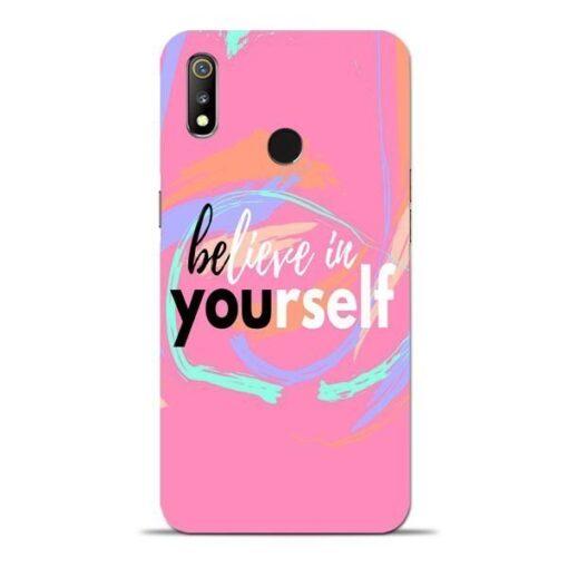 Believe In Oppo Realme 3 Mobile Cover