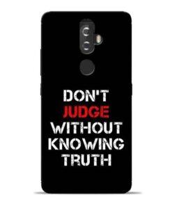 DonT Judge Lenovo K8 Plus Mobile Cover