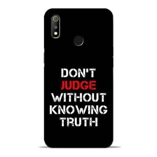 DonT Judge Oppo Realme 3 Mobile Cover