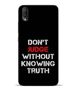 DonT Judge Vivo V11 Pro Mobile Cover