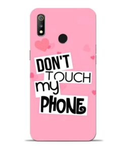 Dont Touch Oppo Realme 3 Mobile Cover