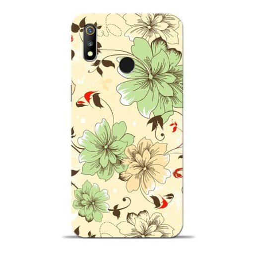 Floral Design Oppo Realme 3 Mobile Cover
