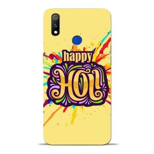 Happy Holi Oppo Realme 3 Pro Mobile Cover