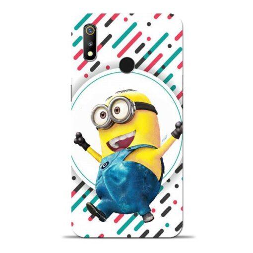 Happy Minion Oppo Realme 3 Mobile Cover