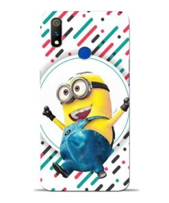 Happy Minion Oppo Realme 3 Pro Mobile Cover