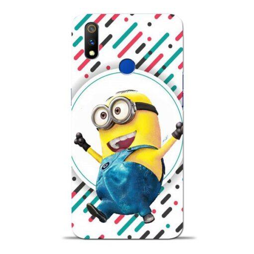 Happy Minion Oppo Realme 3 Pro Mobile Cover