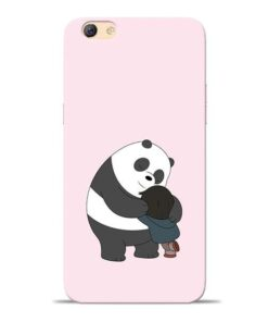 Panda Close Hug Oppo F3 Mobile Cover