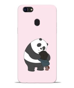 Panda Close Hug Oppo F5 Mobile Cover