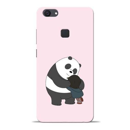 Panda Close Hug Vivo V7 Plus Mobile Cover