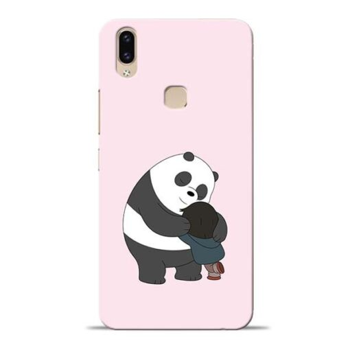 Panda Close Hug Vivo V9 Mobile Cover