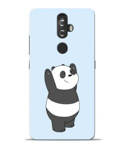Panda Hands Up Lenovo K8 Plus Mobile Cover