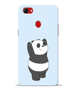 Panda Hands Up Oppo F7 Mobile Cover
