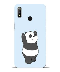 Panda Hands Up Oppo Realme 3 Mobile Cover