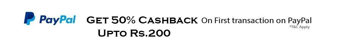 Paypal 50 % Cashback