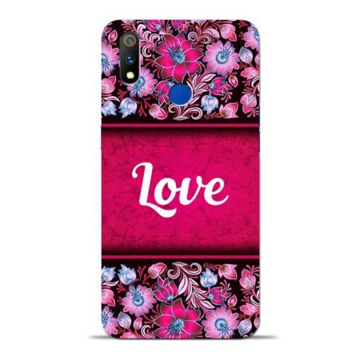 Red Love Oppo Realme 3 Pro Mobile Cover