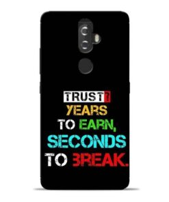 Trust Years To Earn Lenovo K8 Plus Mobile Cover