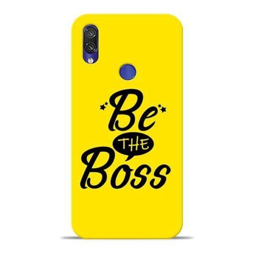 Be The Boss Xiaomi Redmi Note 7 Mobile Cover