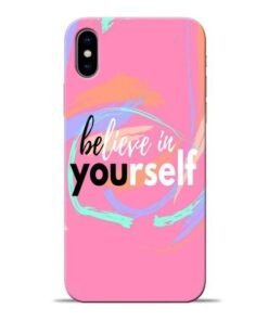 Believe In Apple iPhone X Mobile Cover