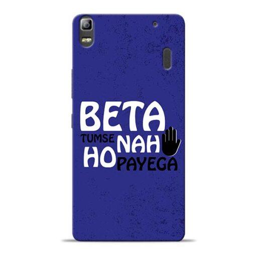 Beta Tumse Na Lenovo K3 Note Mobile Cover