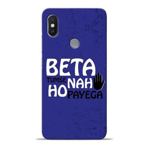 Beta Tumse Na Xiaomi Redmi Y2 Mobile Cover
