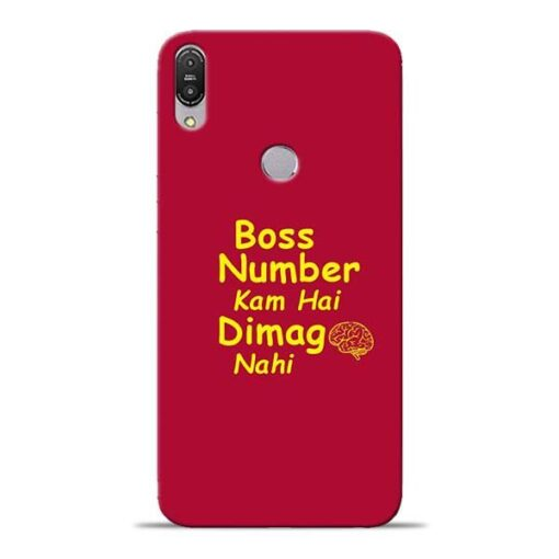 Boss Number Asus Zenfone Max Pro M1 Mobile Cover