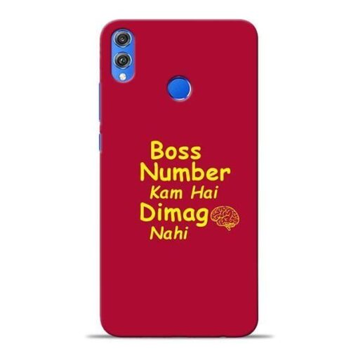 Boss Number Honor 8X Mobile Cover