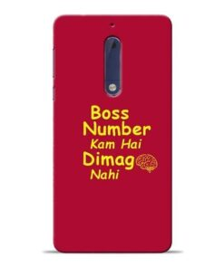 Boss Number Nokia 5 Mobile Cover
