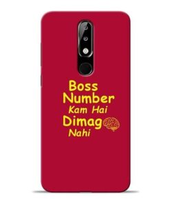 Boss Number Nokia 5.1 Plus Mobile Cover