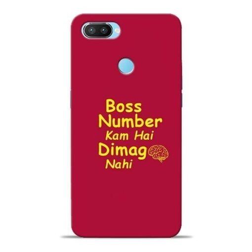 Boss Number Oppo Realme 2 Pro Mobile Cover