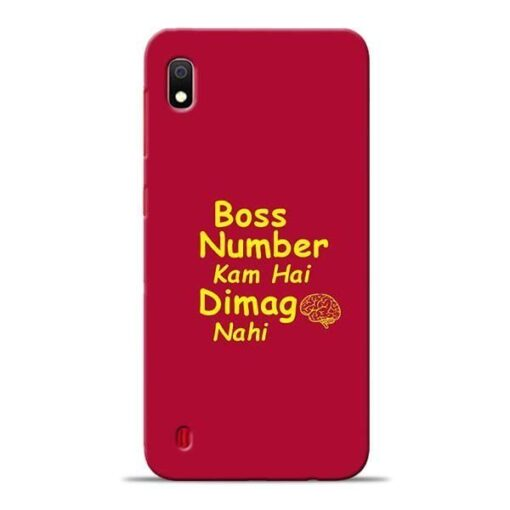 Boss Number Samsung A10 Mobile Cover