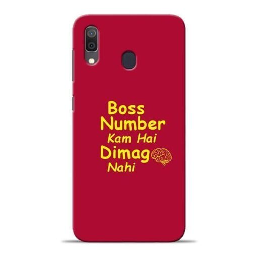 Boss Number Samsung A30 Mobile Cover