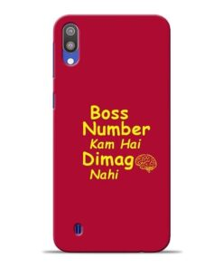 Boss Number Samsung M10 Mobile Cover