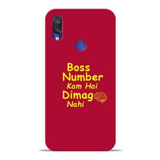 Boss Number Xiaomi Redmi Note 7 Pro Mobile Cover